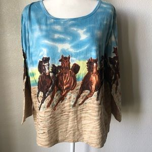 Take Two Clothing Co. Embellished Horse Tee